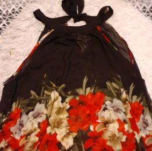 Black flowy Dressy top.
